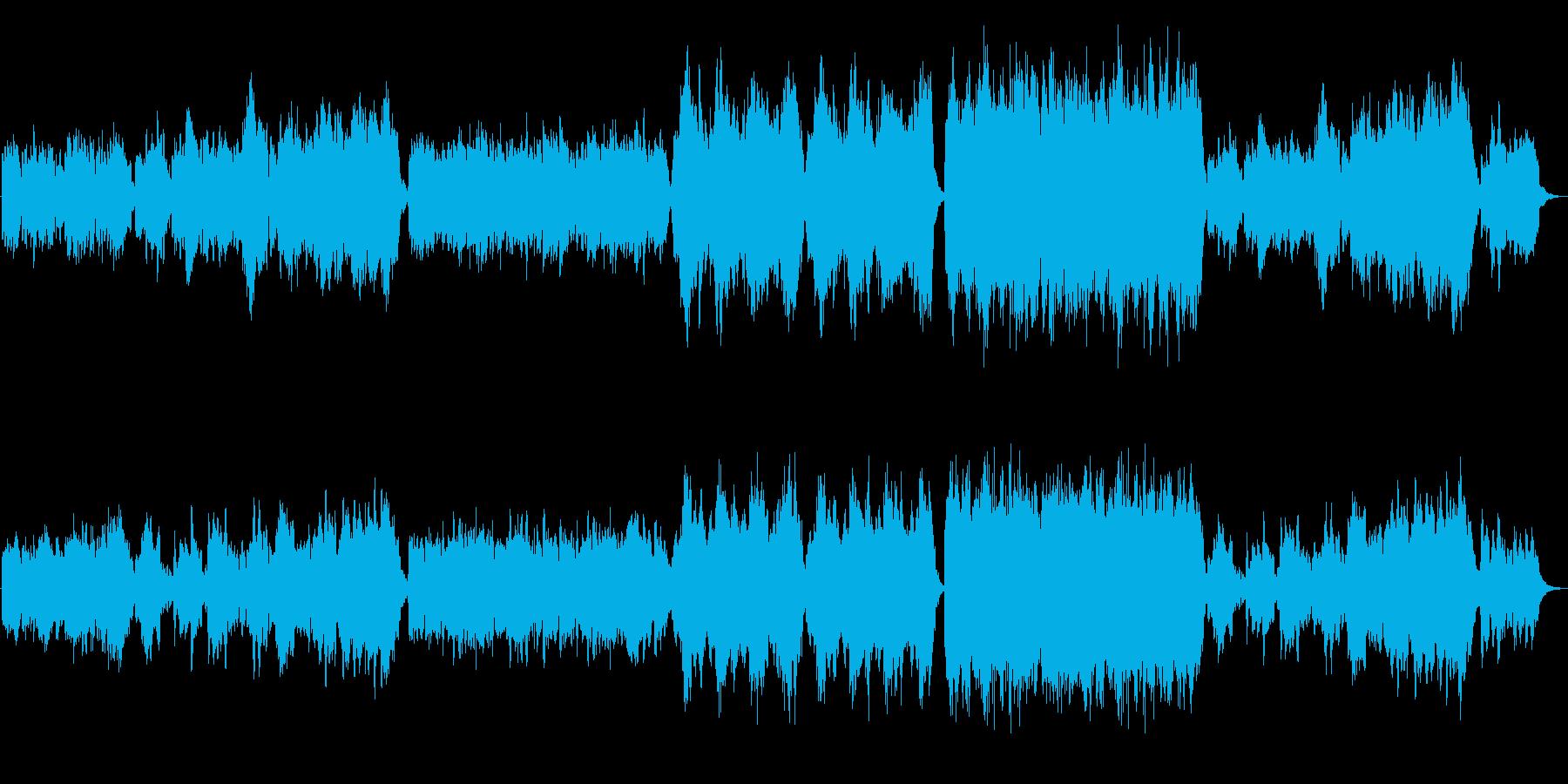 グリーンスリーヴスのアレンジ曲の再生済みの波形