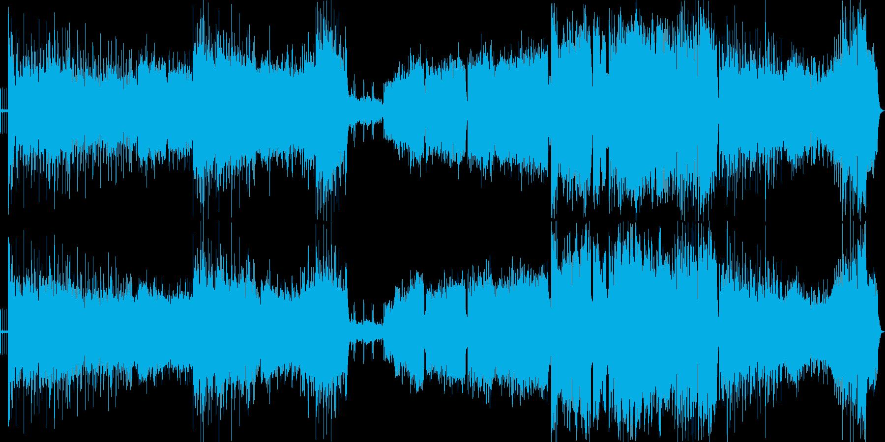 出陣のイメージの激しく壮大なオリジナル曲の再生済みの波形