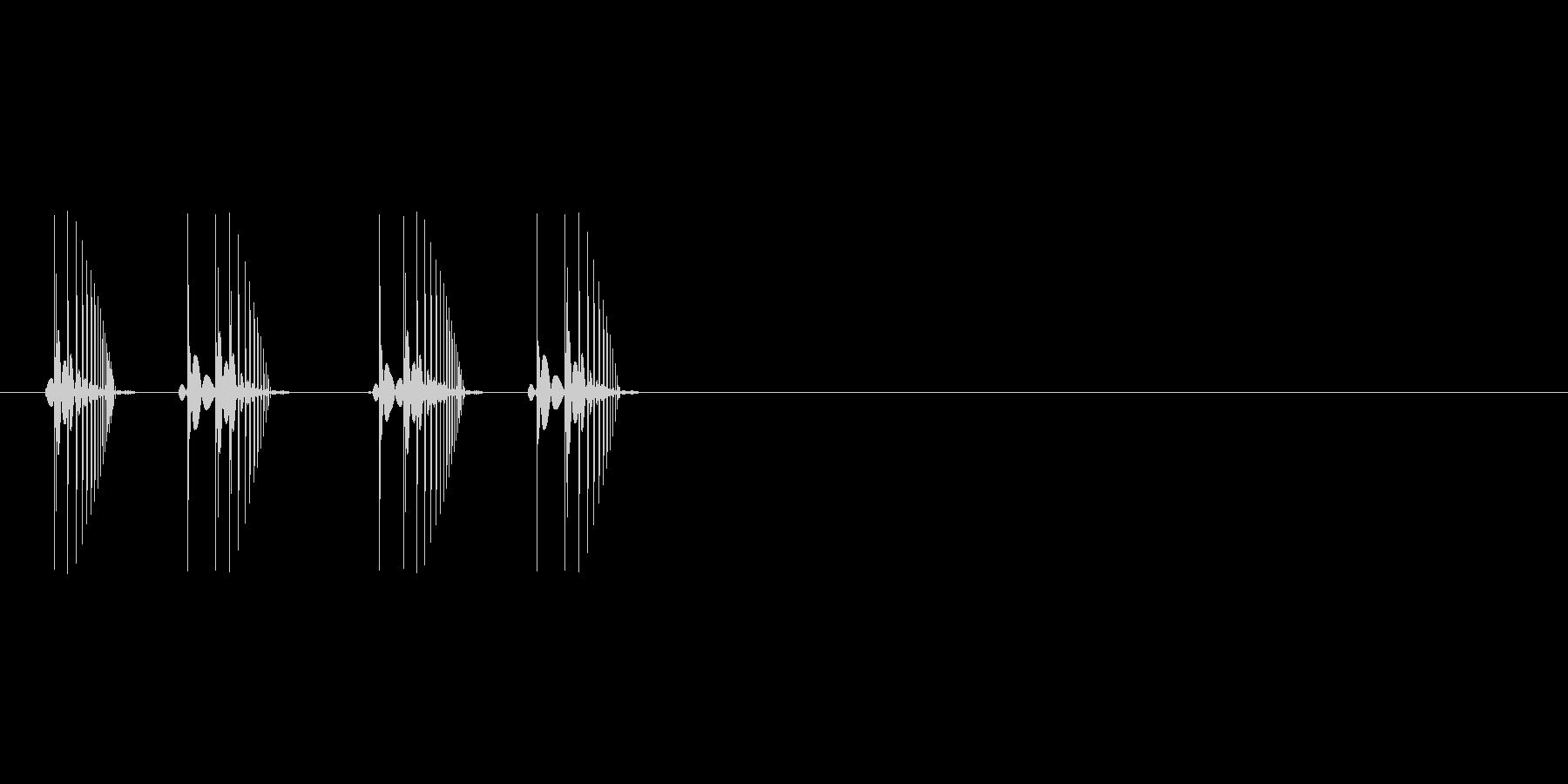 8bitの電撃 バチバチの未再生の波形