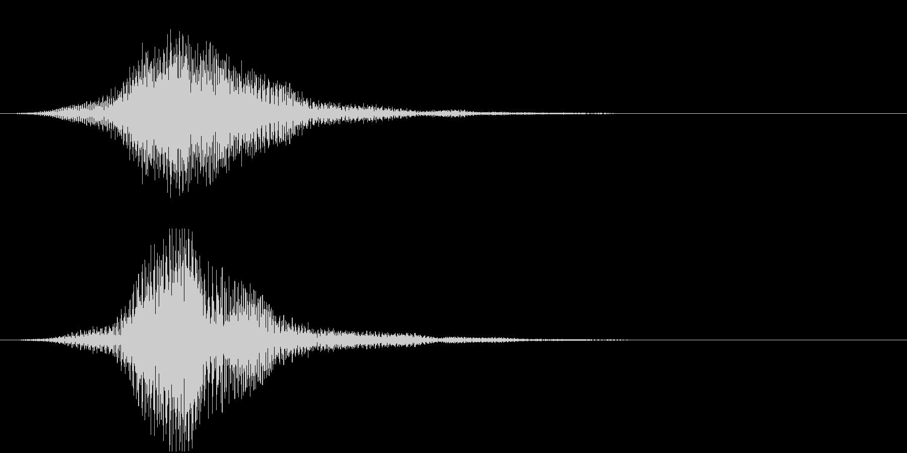 暗い雰囲気のサウンドロゴ1の未再生の波形
