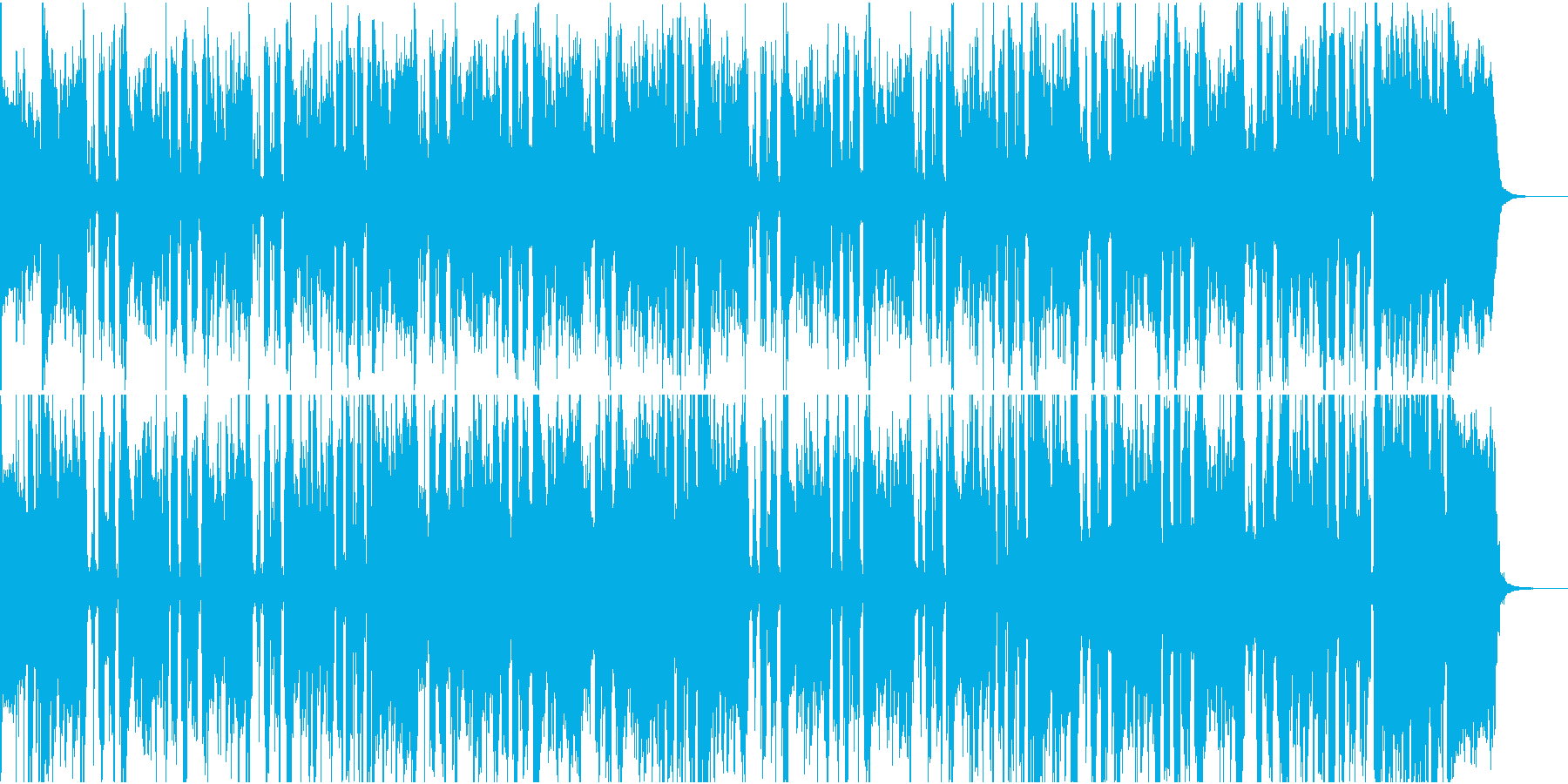 敵のアジトに潜入するシーンの劇伴の再生済みの波形