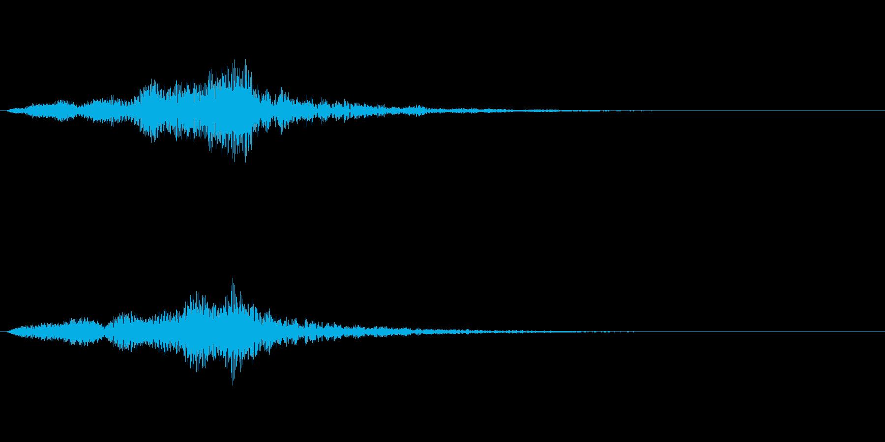 【単音・シリアス01-1】の再生済みの波形