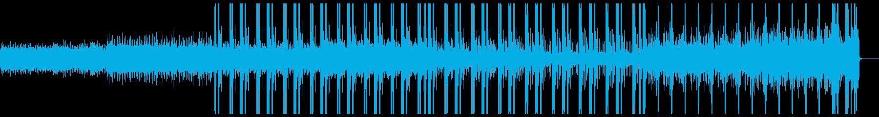 短め、ゆっくりのトラップミュージックの再生済みの波形