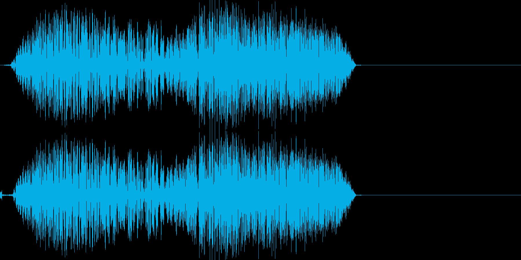 バシュッ(RPG風の斬撃音)の再生済みの波形