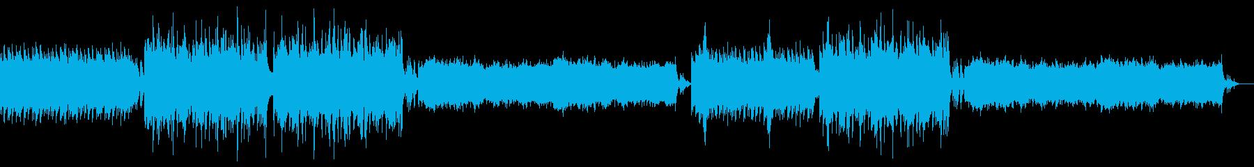 【ホラー系BGM】不気味な洋風ホラー曲の再生済みの波形