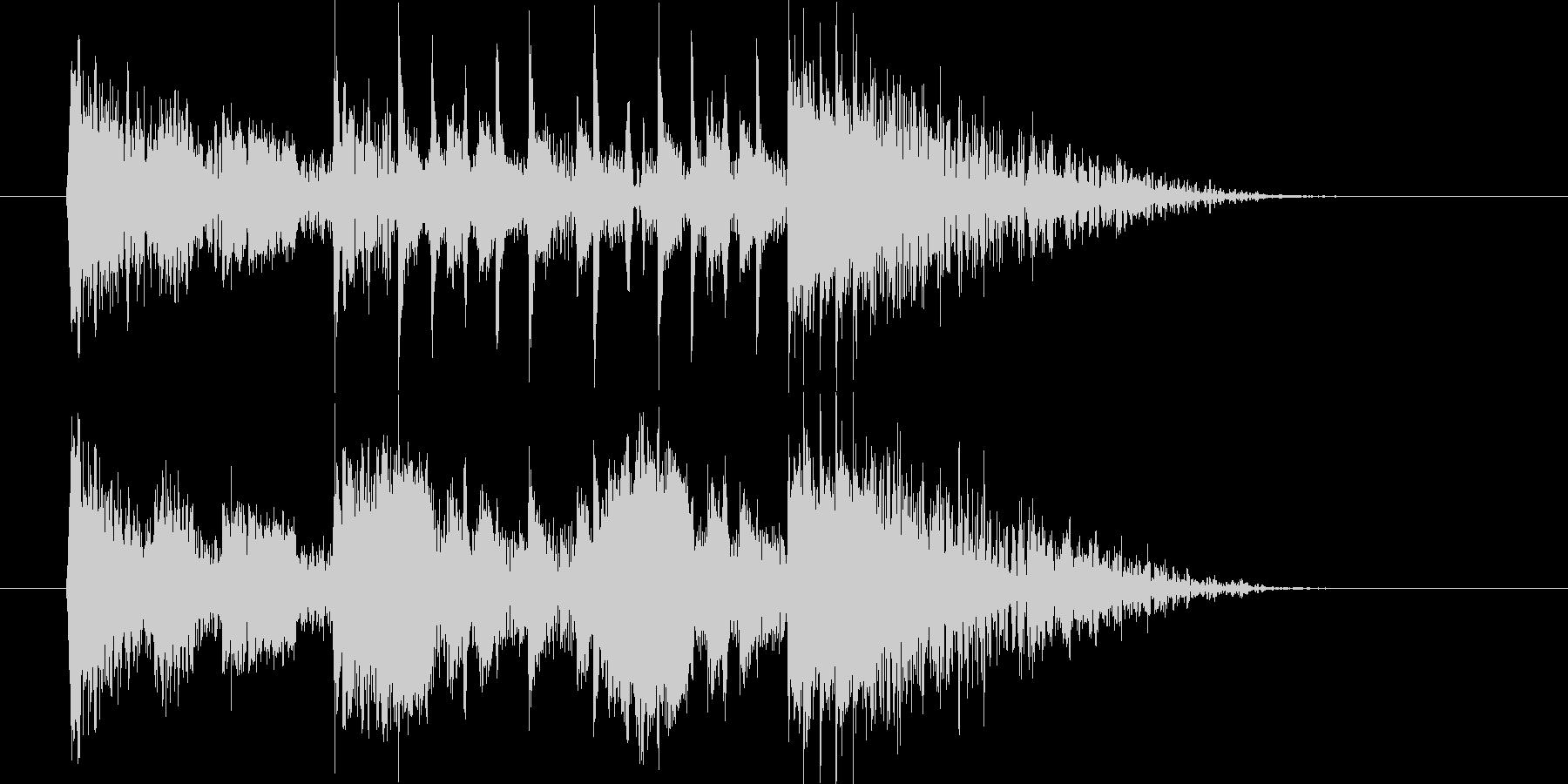 勢いとドキドキ感のサイレンシンセサウンドの未再生の波形