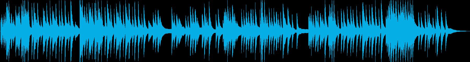 切ないピアノソロのバラードの再生済みの波形