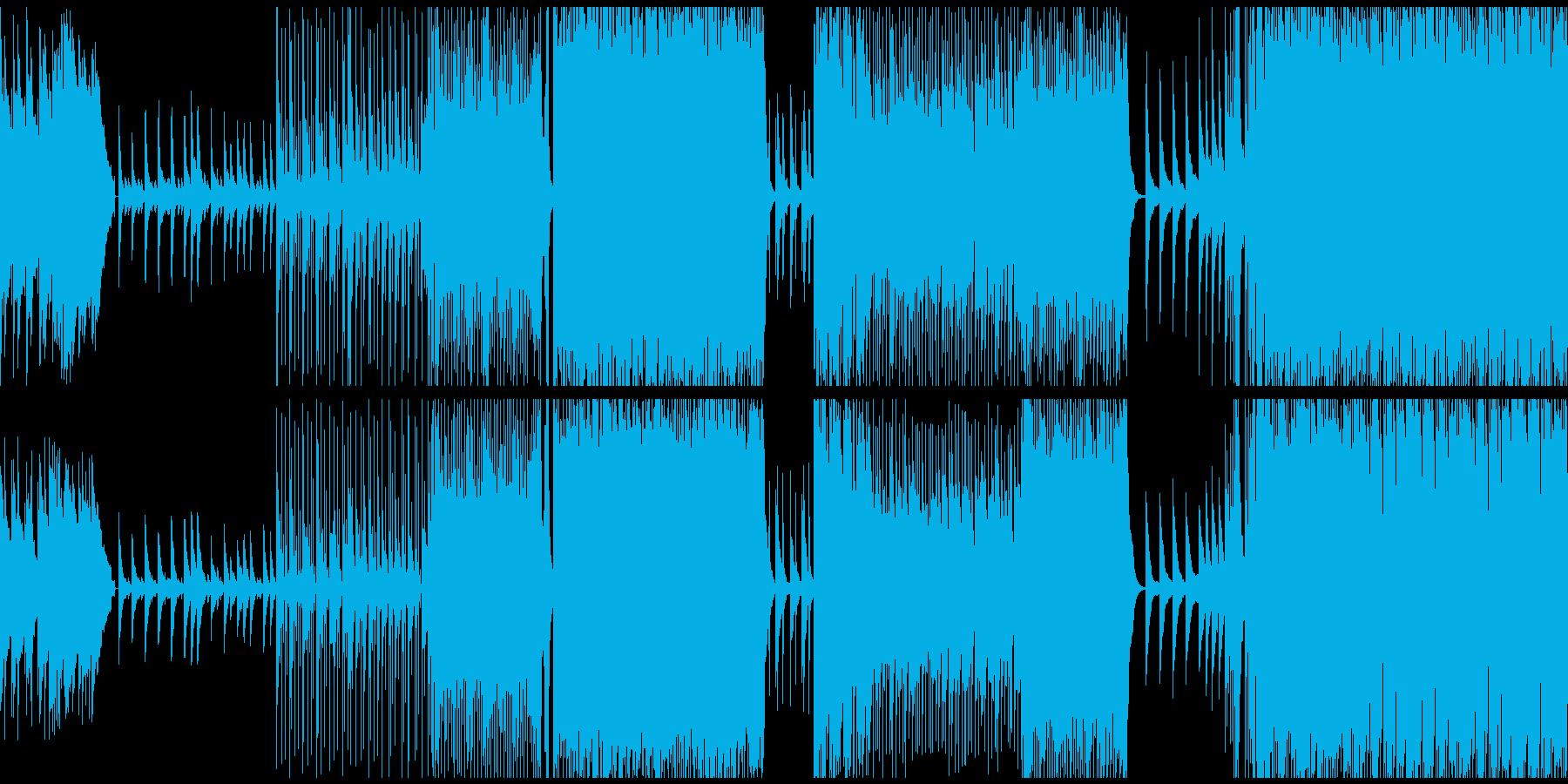 ピアノ主体、メロディ無し優しいバラードの再生済みの波形