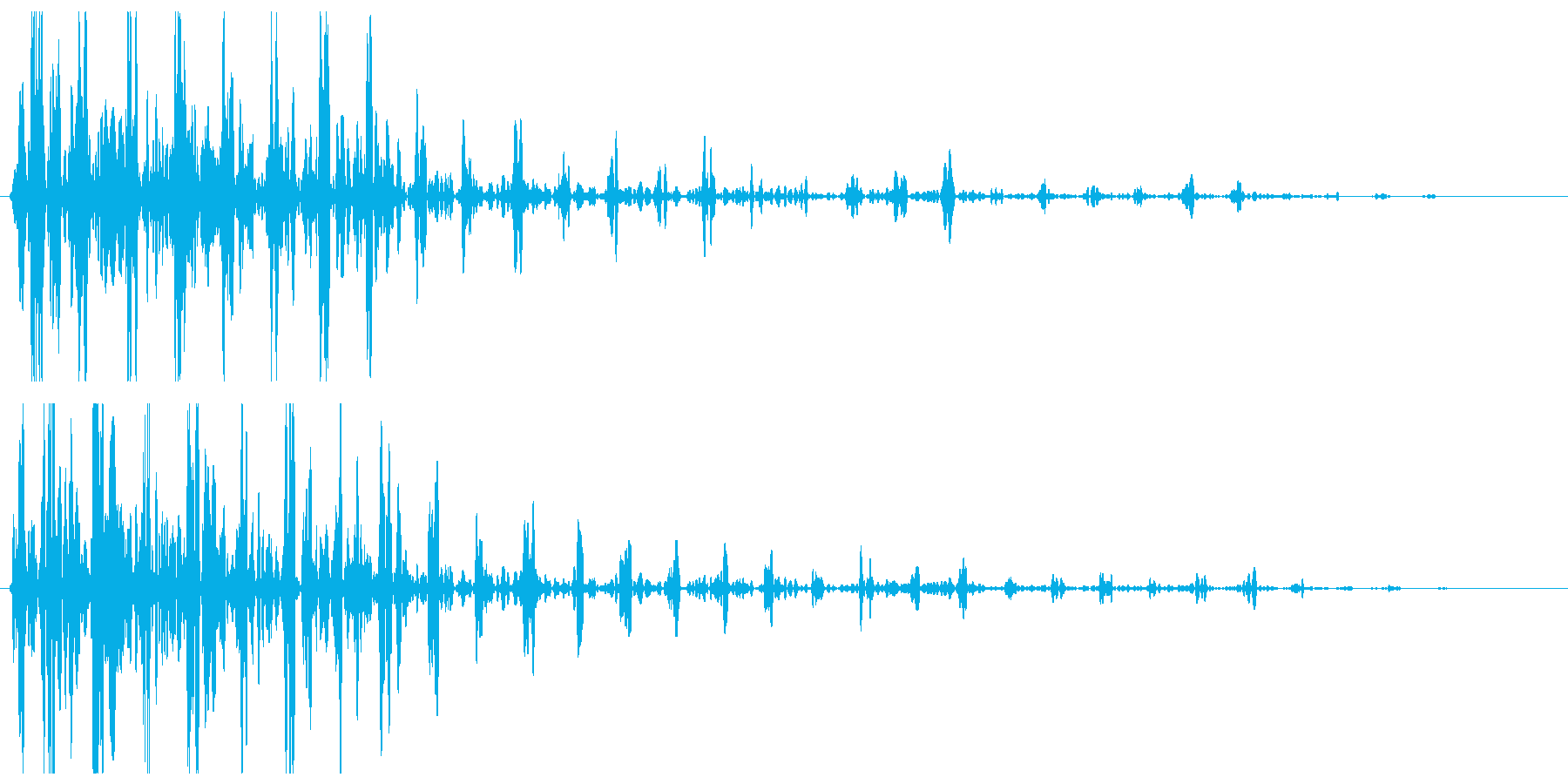 ドカン(爆発系の音)の再生済みの波形