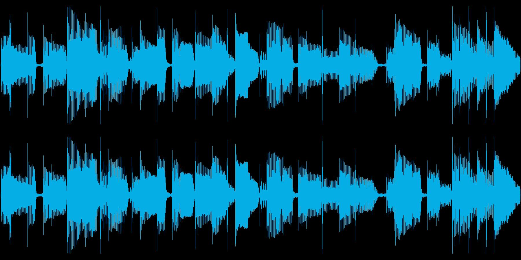 シンプルなスラップベースソロ素材の再生済みの波形