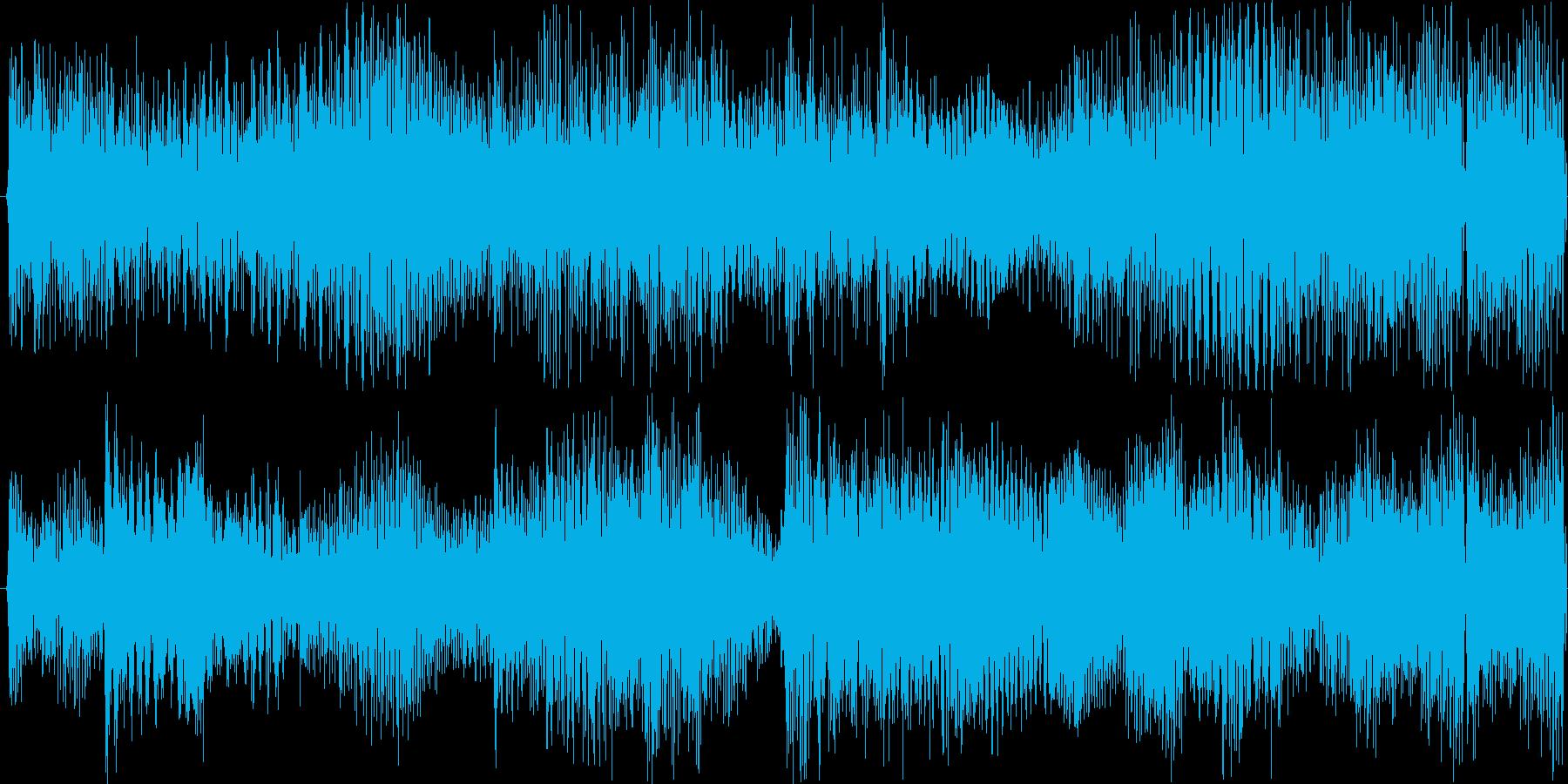 幻想的な雰囲気のループテクノの再生済みの波形