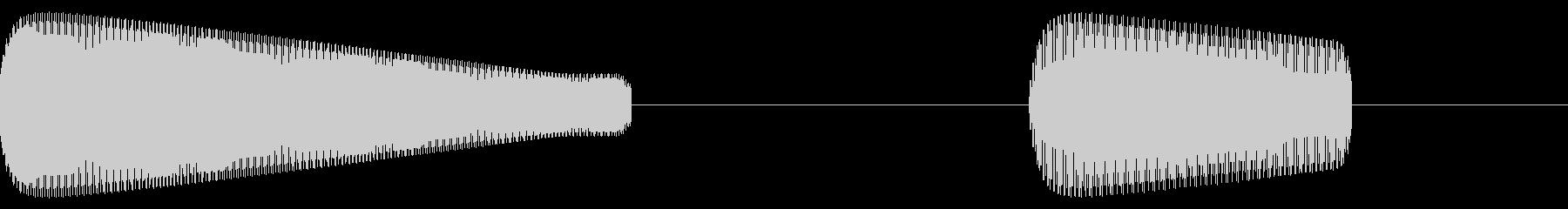 レトロゲーム効果音「ピコ」低めの未再生の波形