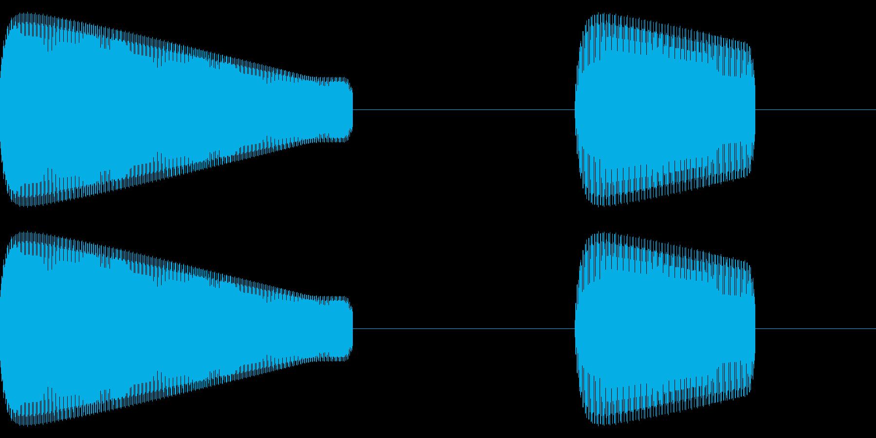 レトロゲーム効果音「ピコ」低めの再生済みの波形