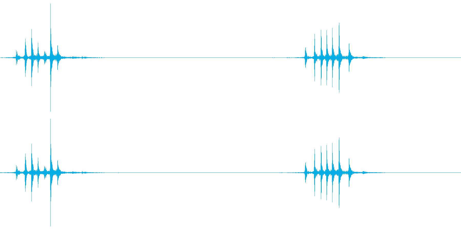 マウスのホイール2の再生済みの波形