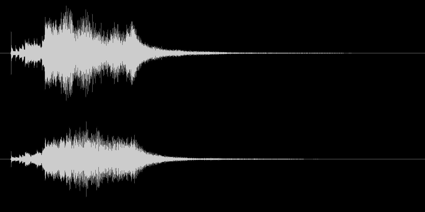ハープのグリッサンド1の未再生の波形