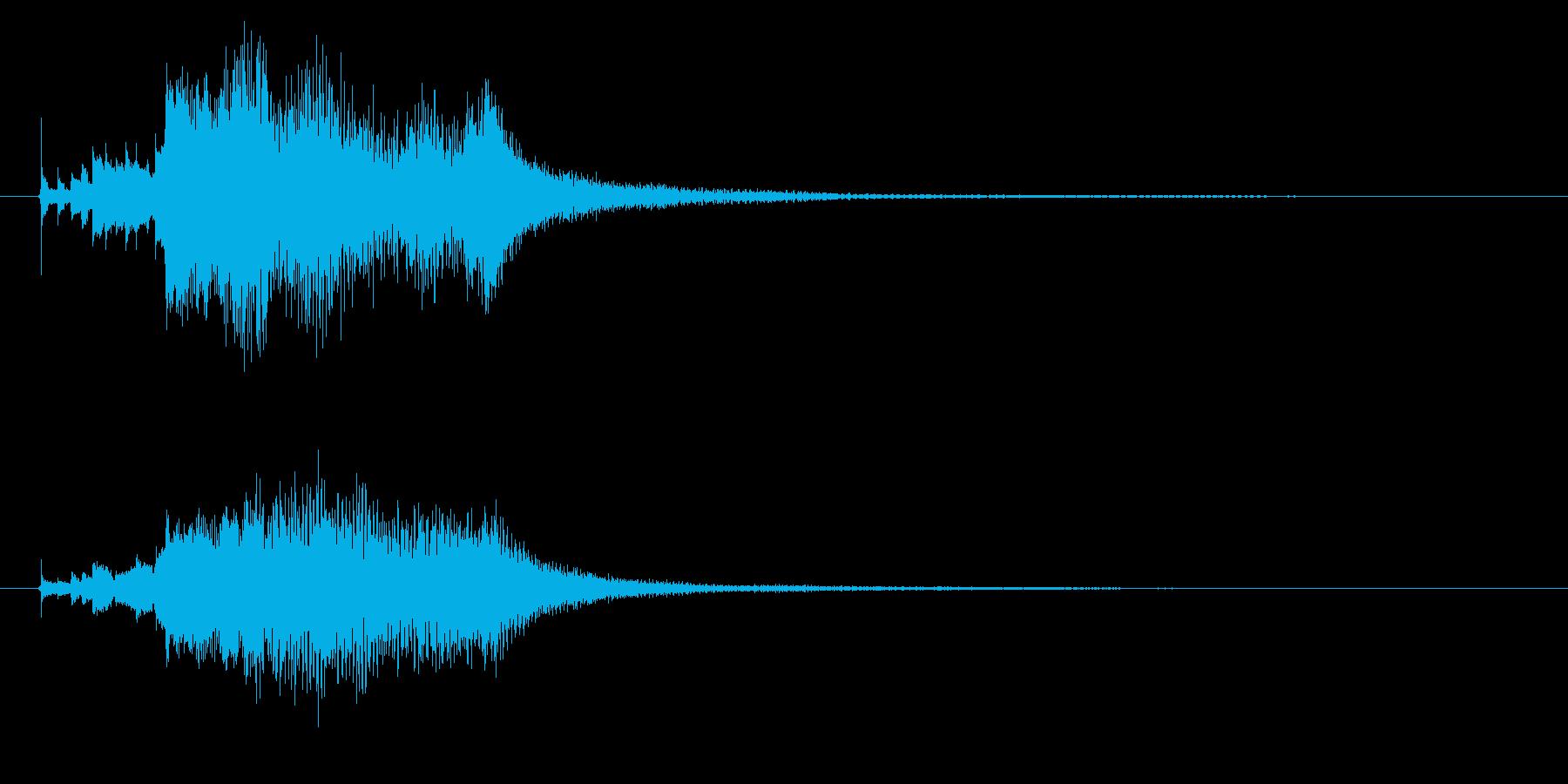 ハープのグリッサンド1の再生済みの波形
