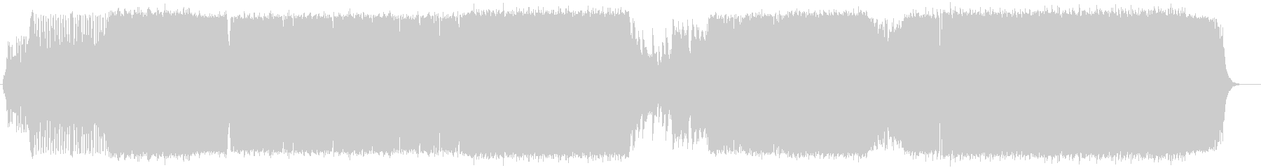 オープニング映像に合うクールなロックの未再生の波形