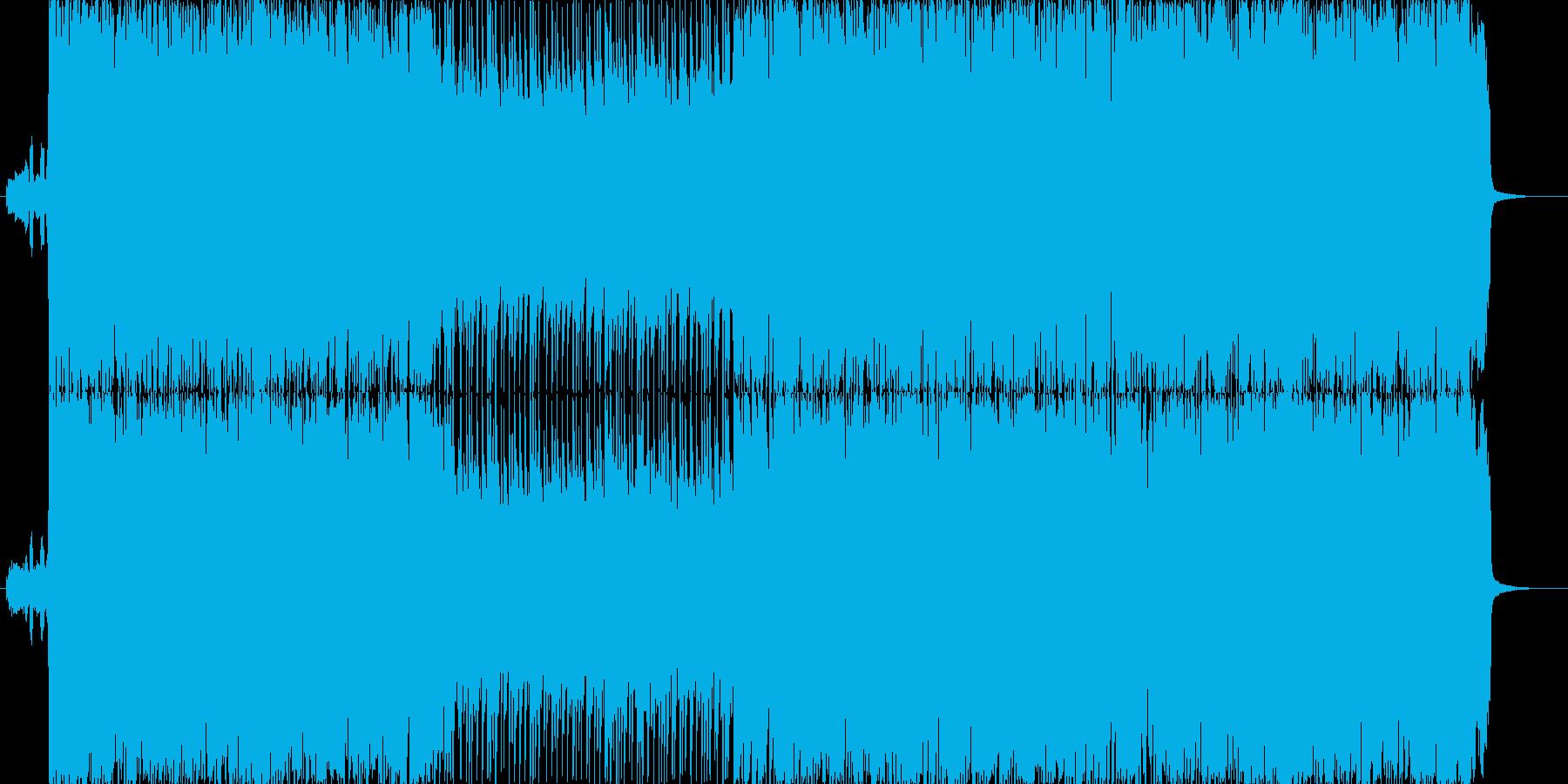 疾走感のあるロックな楽曲です。の再生済みの波形