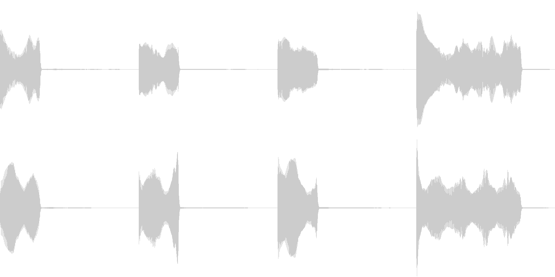GP レースのスタートカウントダウン 2の未再生の波形