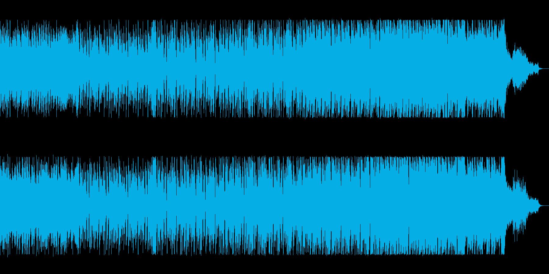おしゃれで陽気なポップミュージックの再生済みの波形
