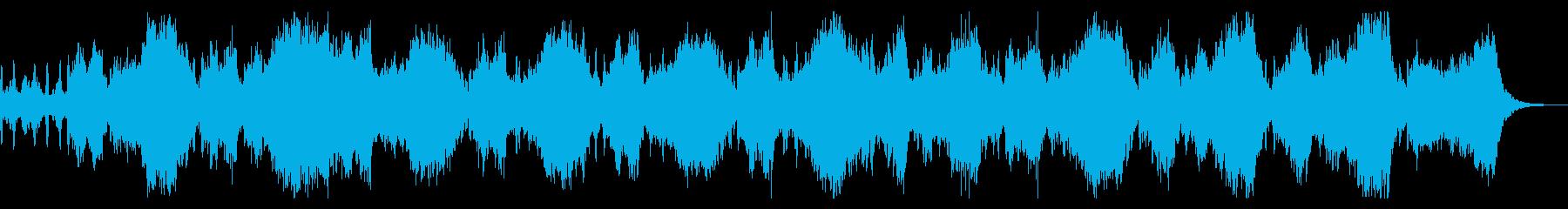 恐怖の演出 ホラー向けストリングスと合唱の再生済みの波形