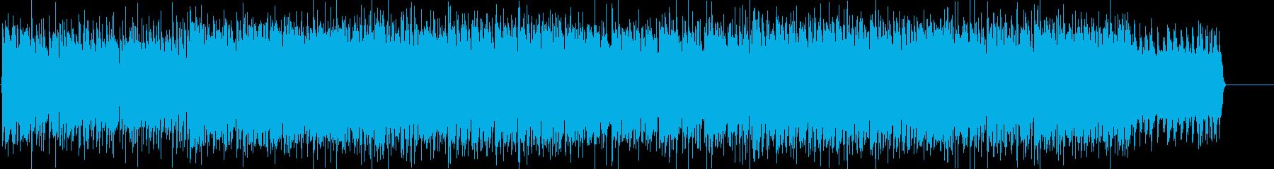 激しい 力強い 慌ただしい スピードの再生済みの波形