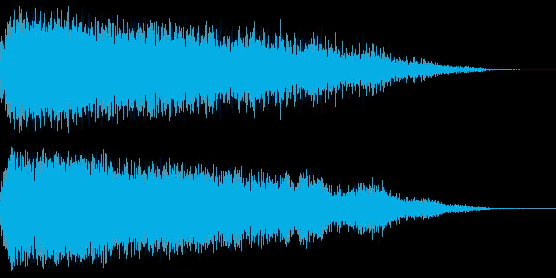 「ホラーにありそうな効果音1(http…の再生済みの波形