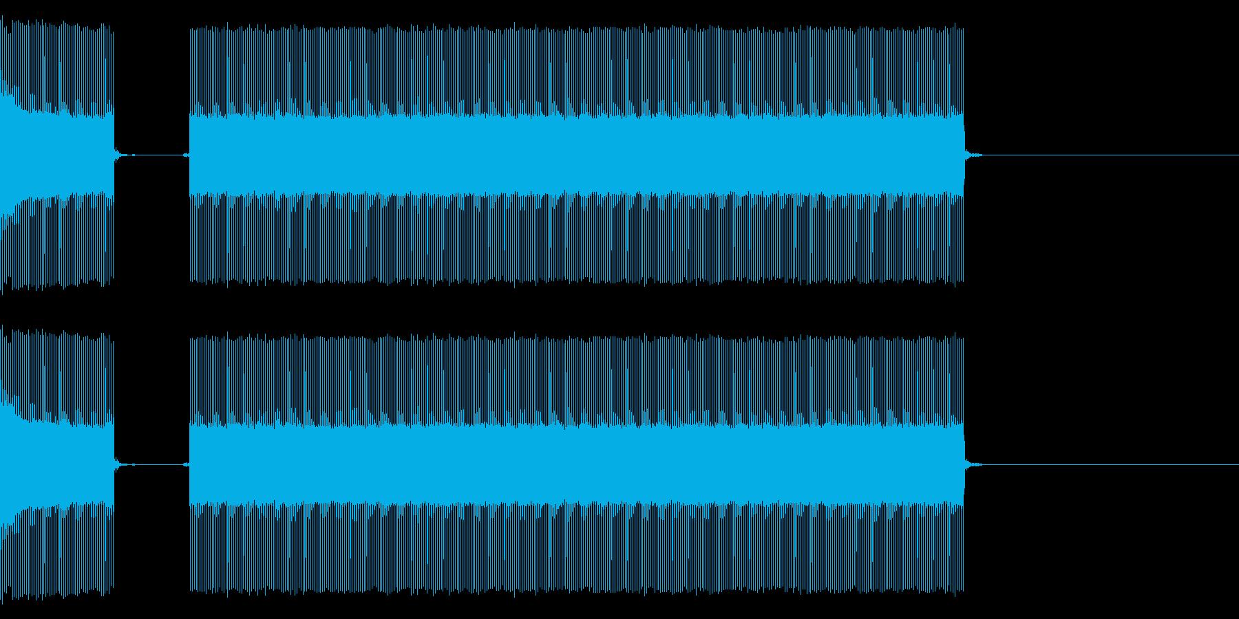クイズなどのブブーという不正解の音ですの再生済みの波形