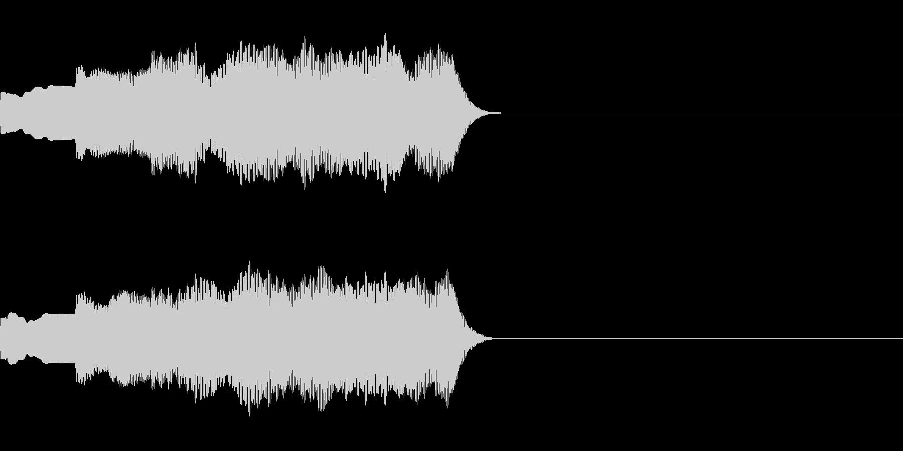 ピンポンパンポン(店内アナウンス前の音)の未再生の波形