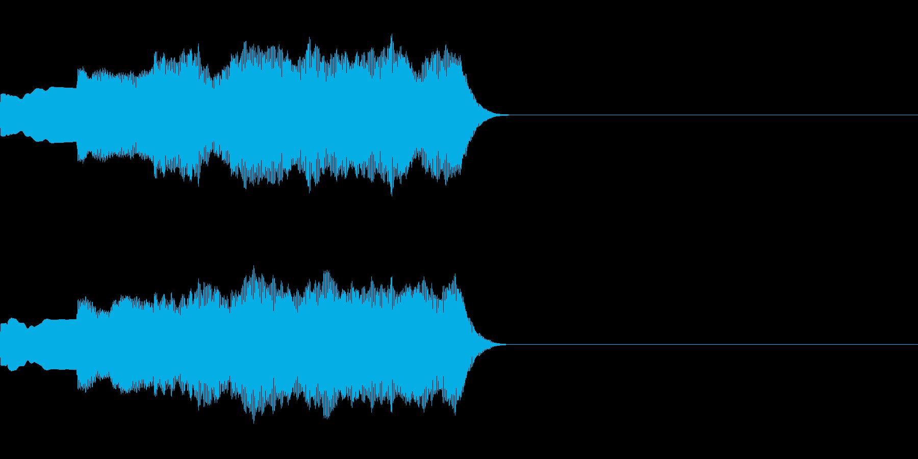 ピンポンパンポン(店内アナウンス前の音)の再生済みの波形
