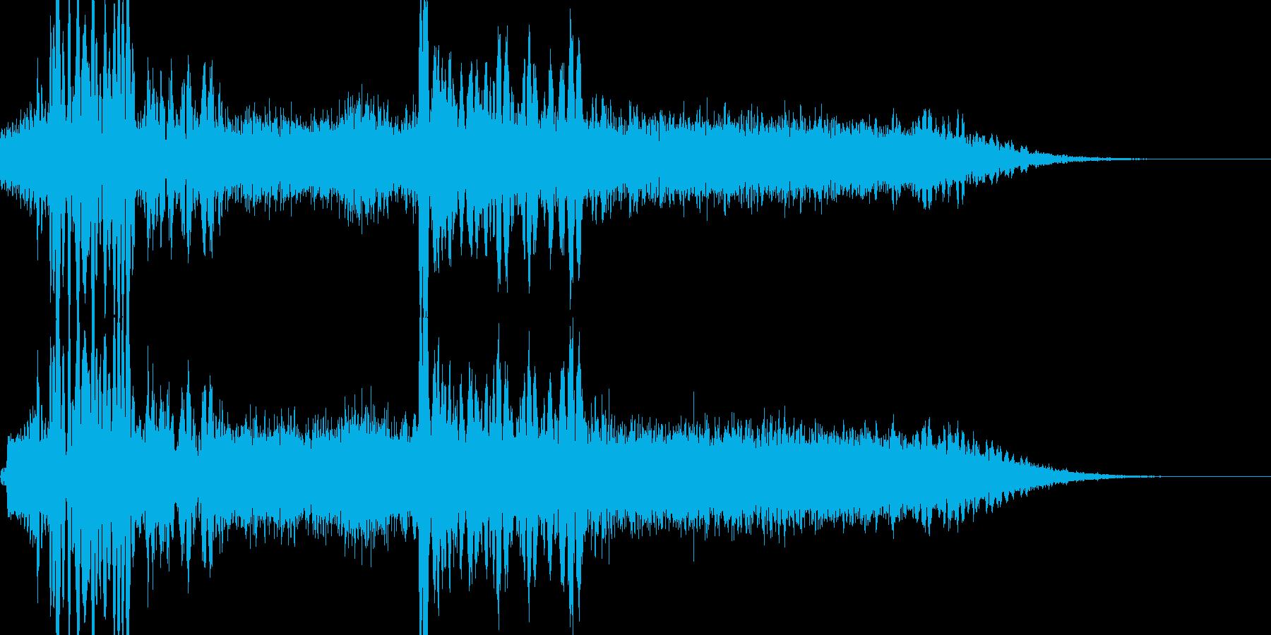 ザザー(ノイズ、砂嵐)+心音の再生済みの波形
