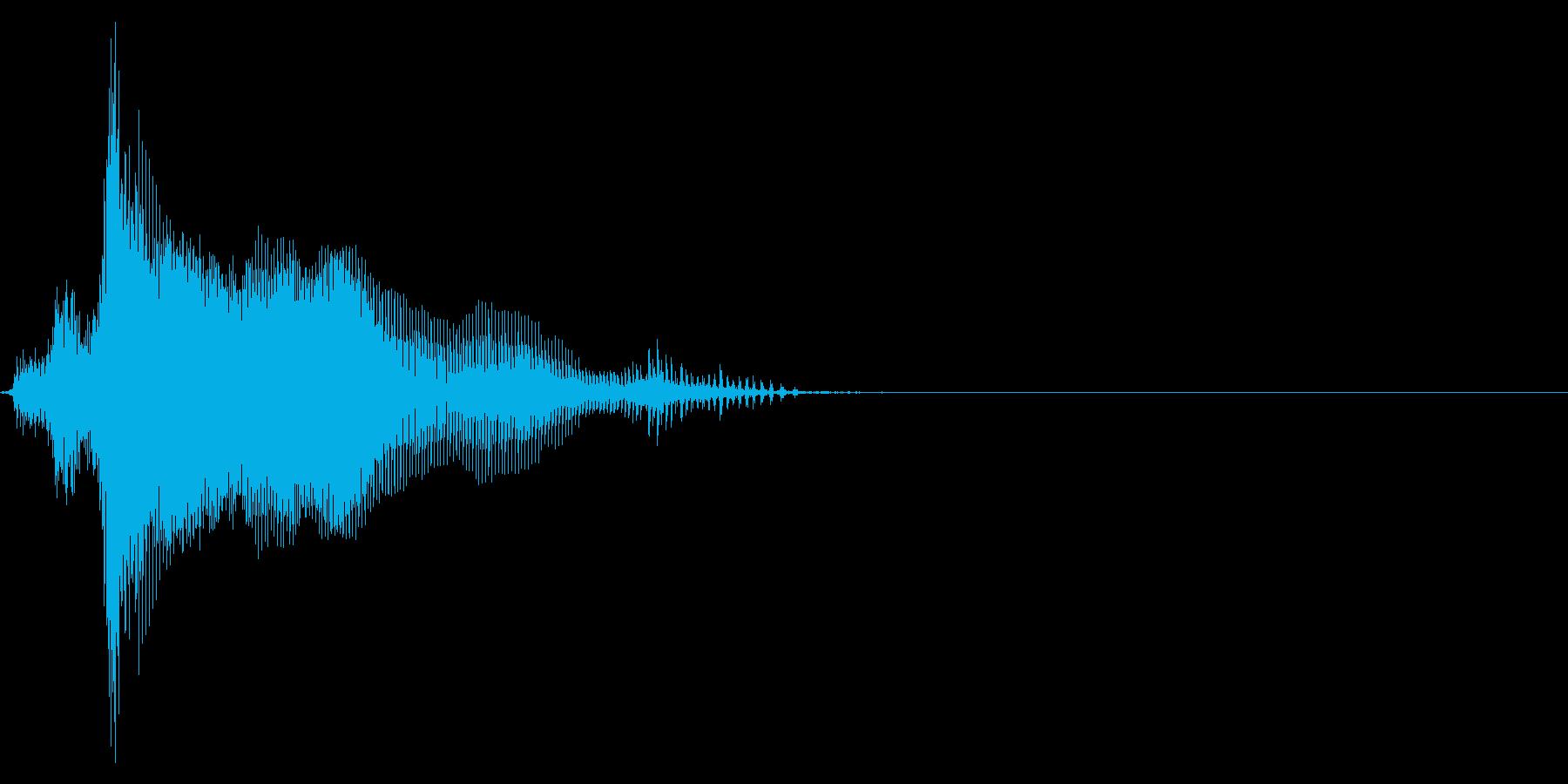 ゲーム掛け声男3ヘァ2の再生済みの波形