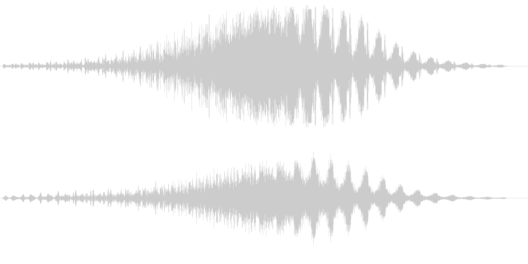 スピード感のあるスライド音の未再生の波形