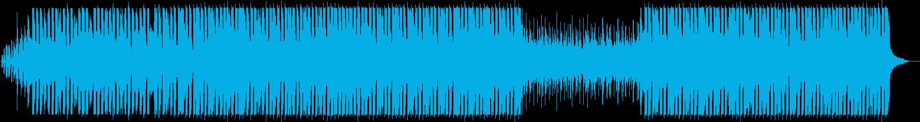 未来的なテクノエレクトロニカの再生済みの波形