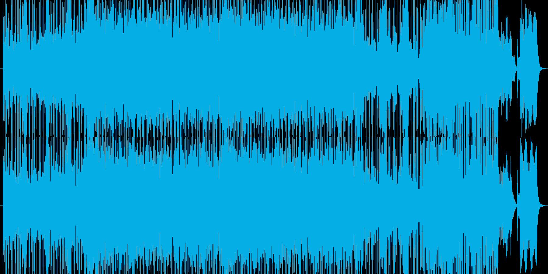 和楽器ロック琴尺八三味線太鼓の再生済みの波形