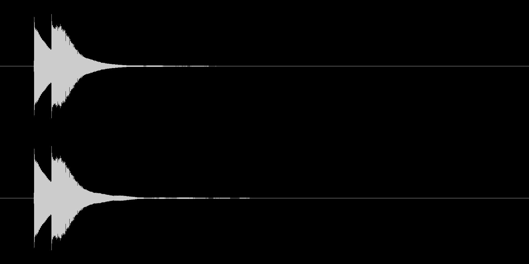 ピンポン(正解)01の未再生の波形