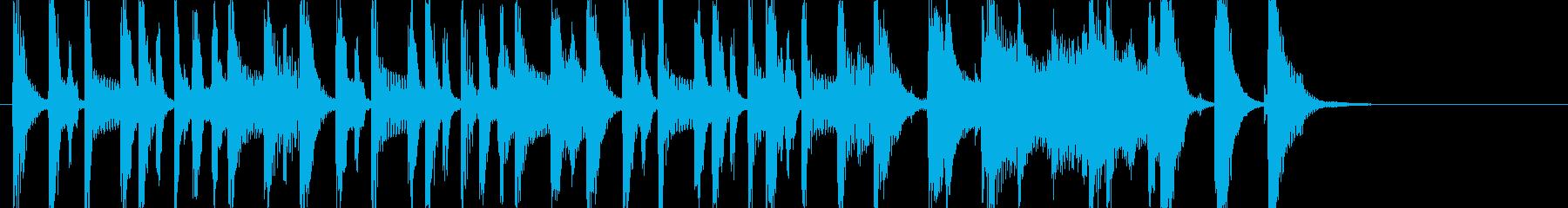 ポップでかわいめなジングルの再生済みの波形