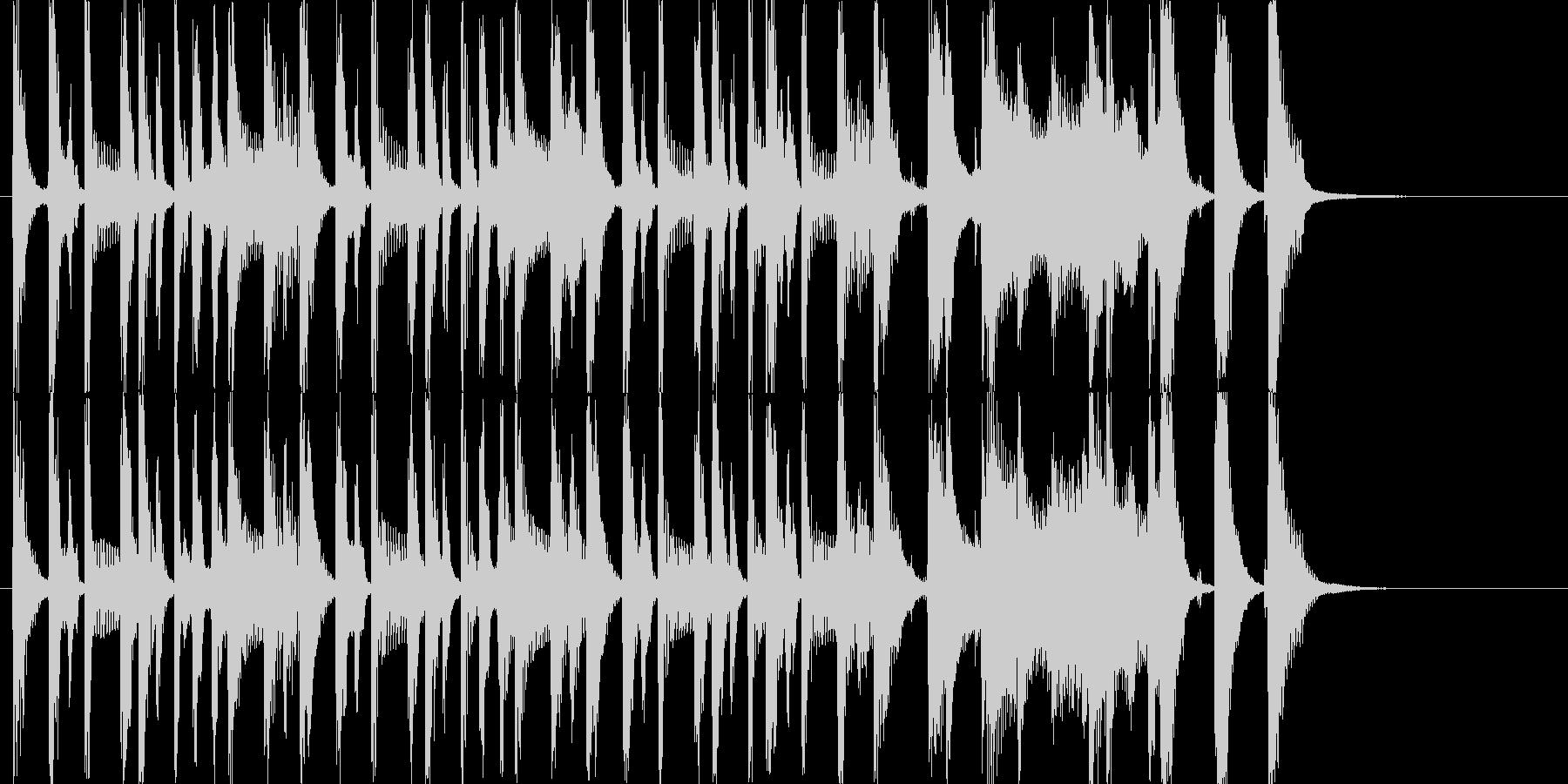 ポップでかわいめなジングルの未再生の波形