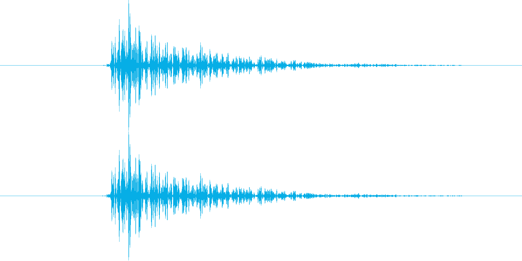 カッ(将棋、囲碁、麻雀などの音)【旧】の再生済みの波形
