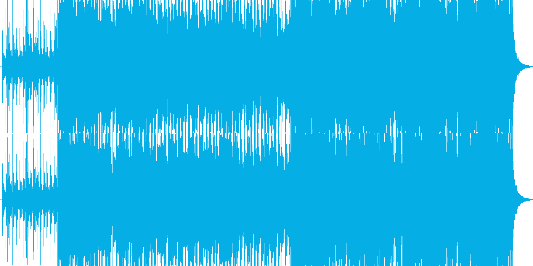 桃太郎の鬼ヶ島の戦闘シーン ハイテンポの再生済みの波形