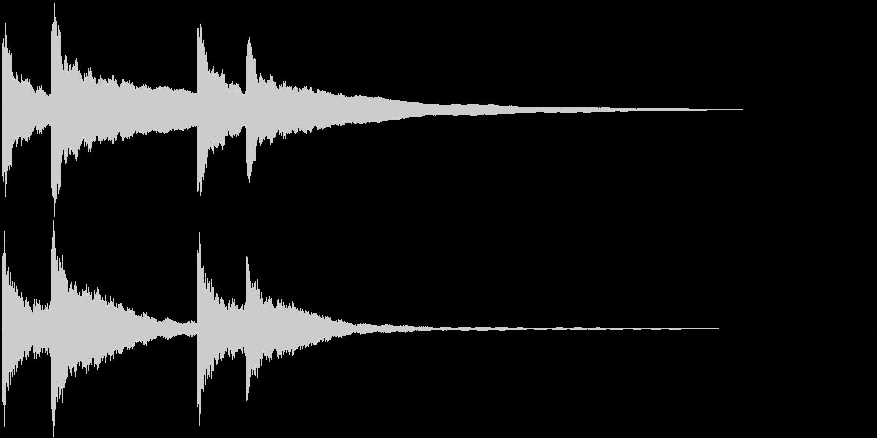 カーンカーン 西洋の鐘の音2 リバーブ付の未再生の波形