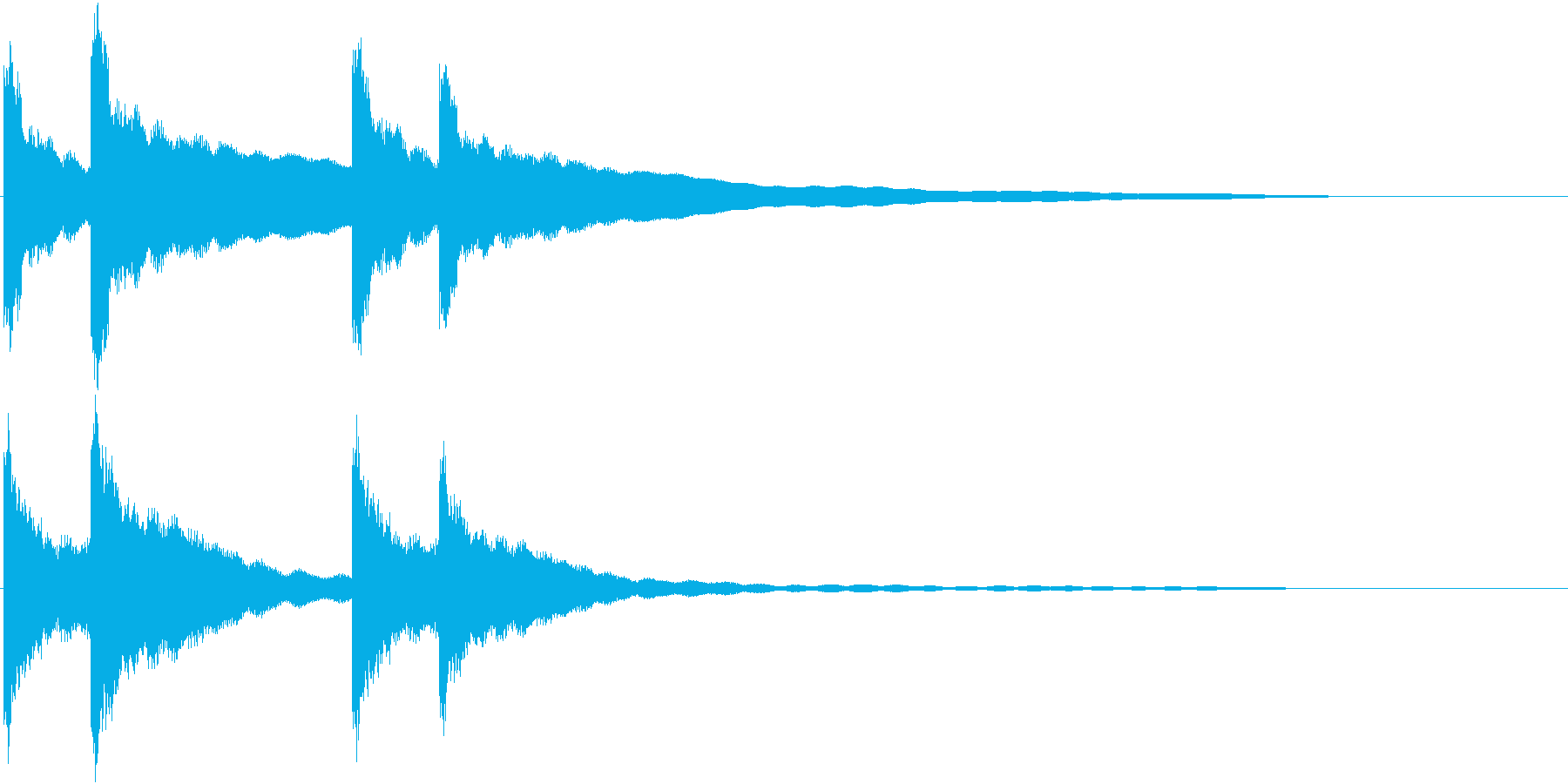 カーンカーン 西洋の鐘の音2 リバーブ付の再生済みの波形