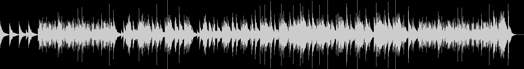 ピアノソロによる映像向きの曲の未再生の波形