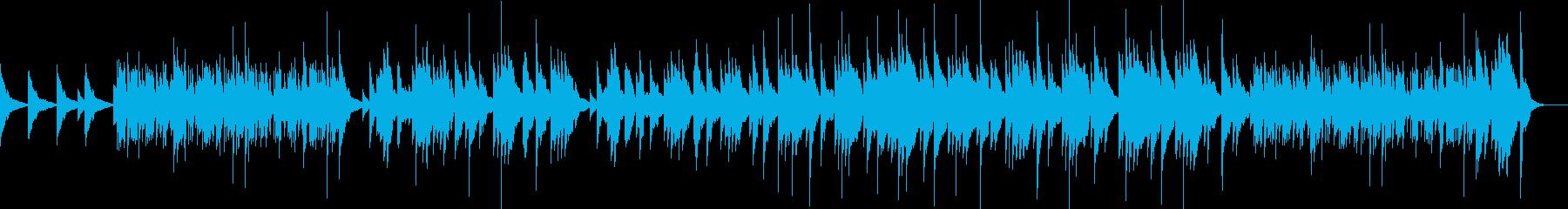 ピアノソロによる映像向きの曲の再生済みの波形