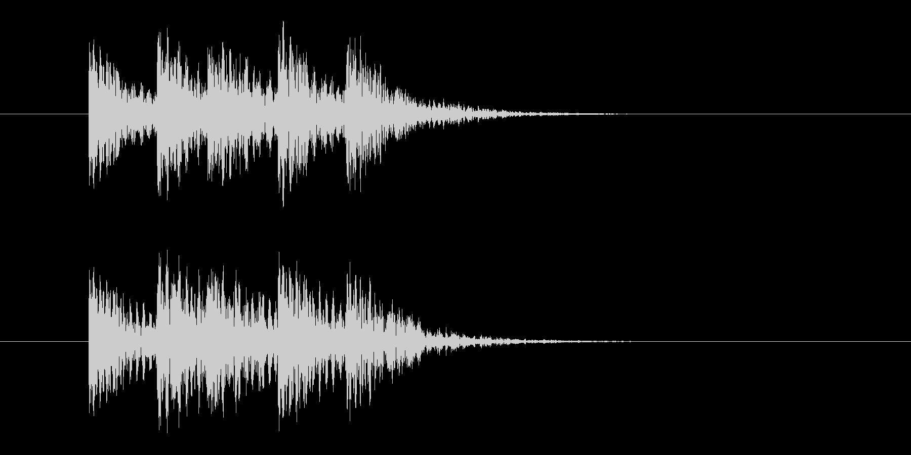 案内放送チャイムの未再生の波形