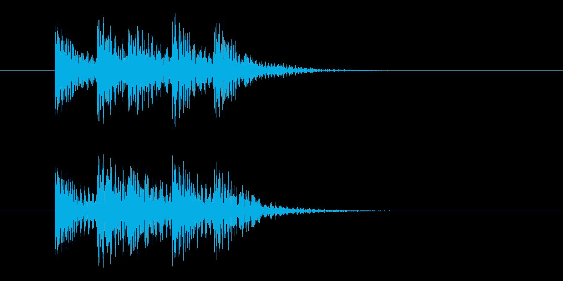 案内放送チャイムの再生済みの波形