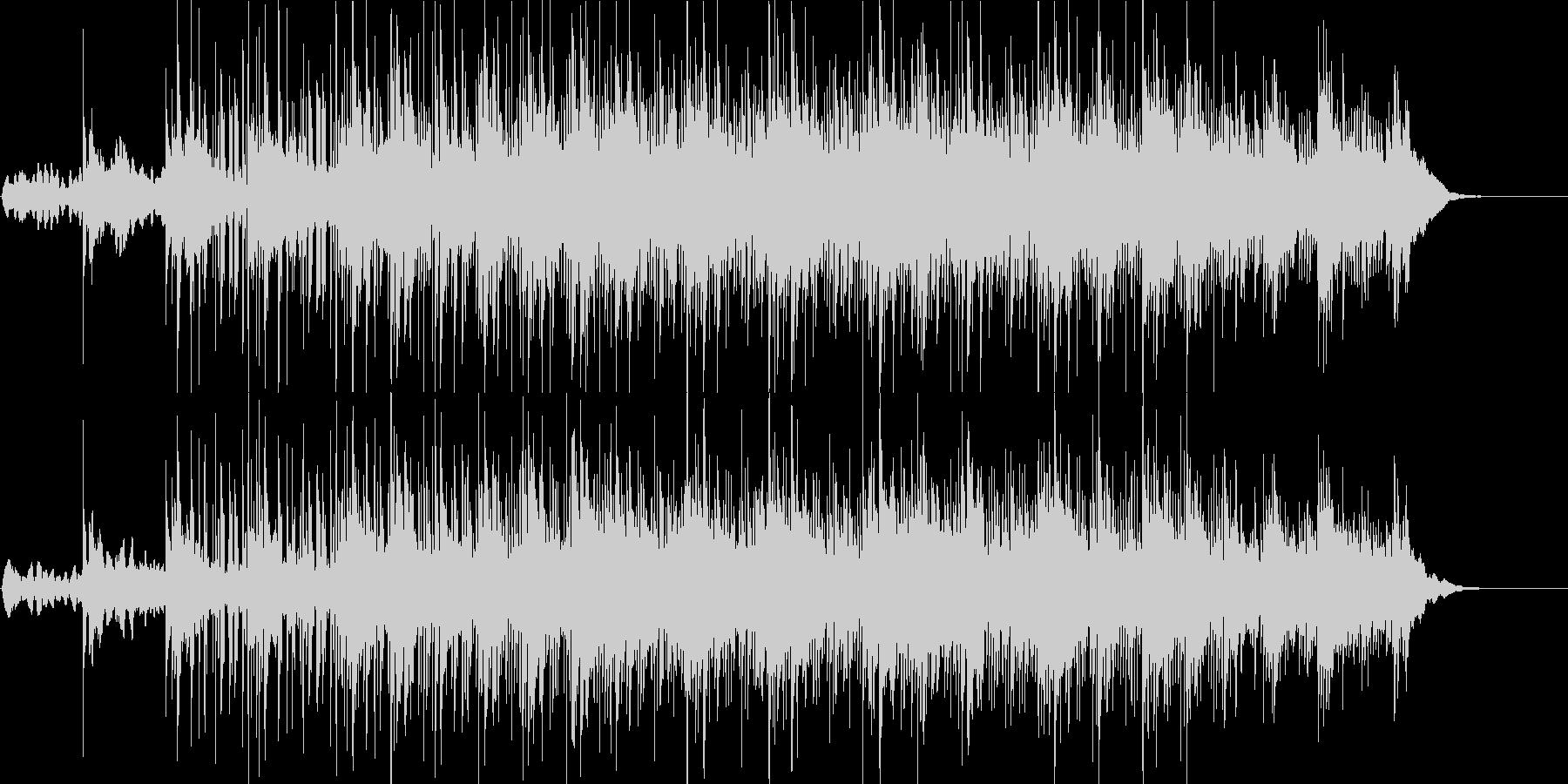 淡々として奇妙なサイエンス風BGMの未再生の波形