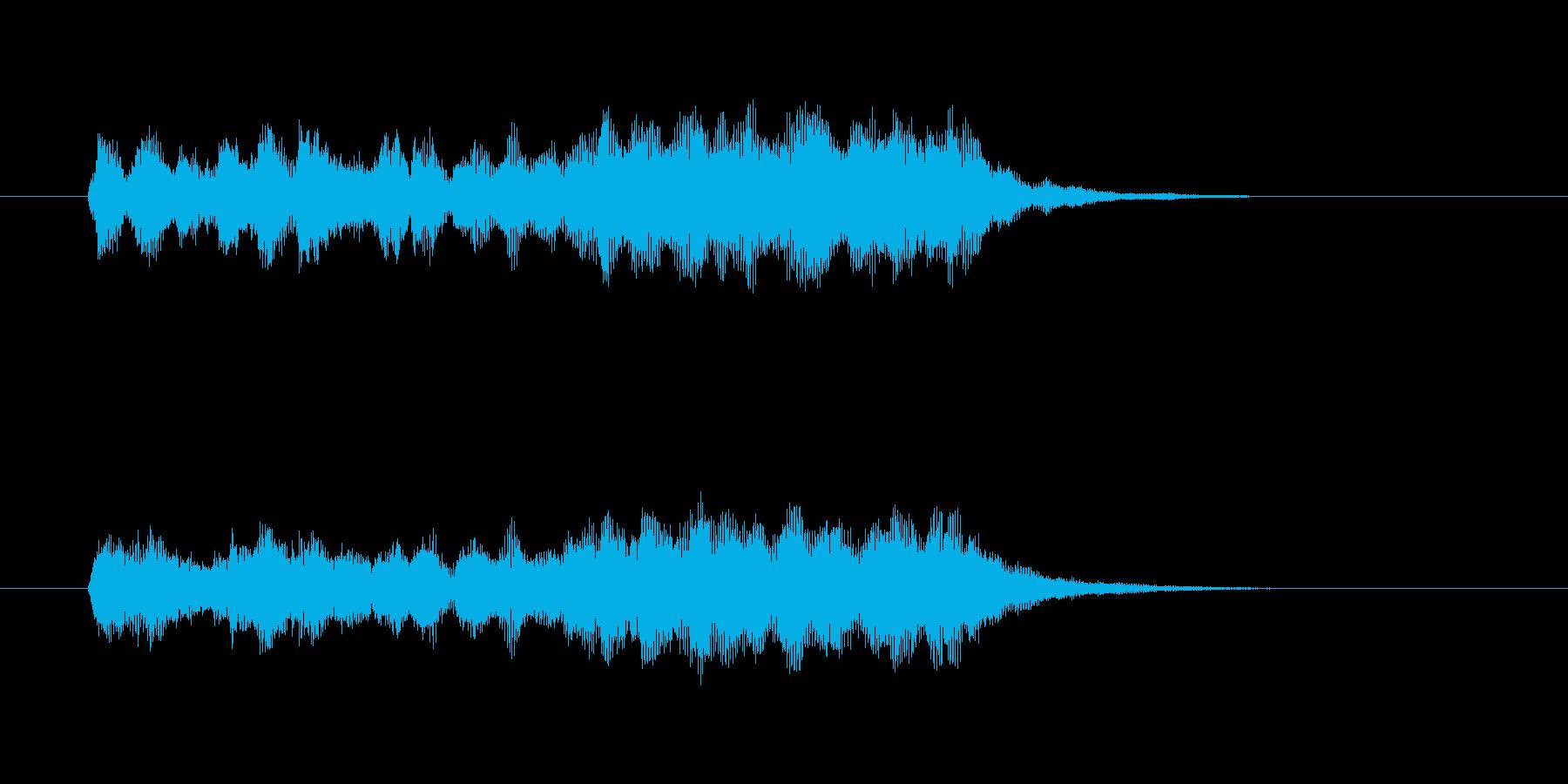 軽やかで美しいシンセオルガンサウンドの再生済みの波形