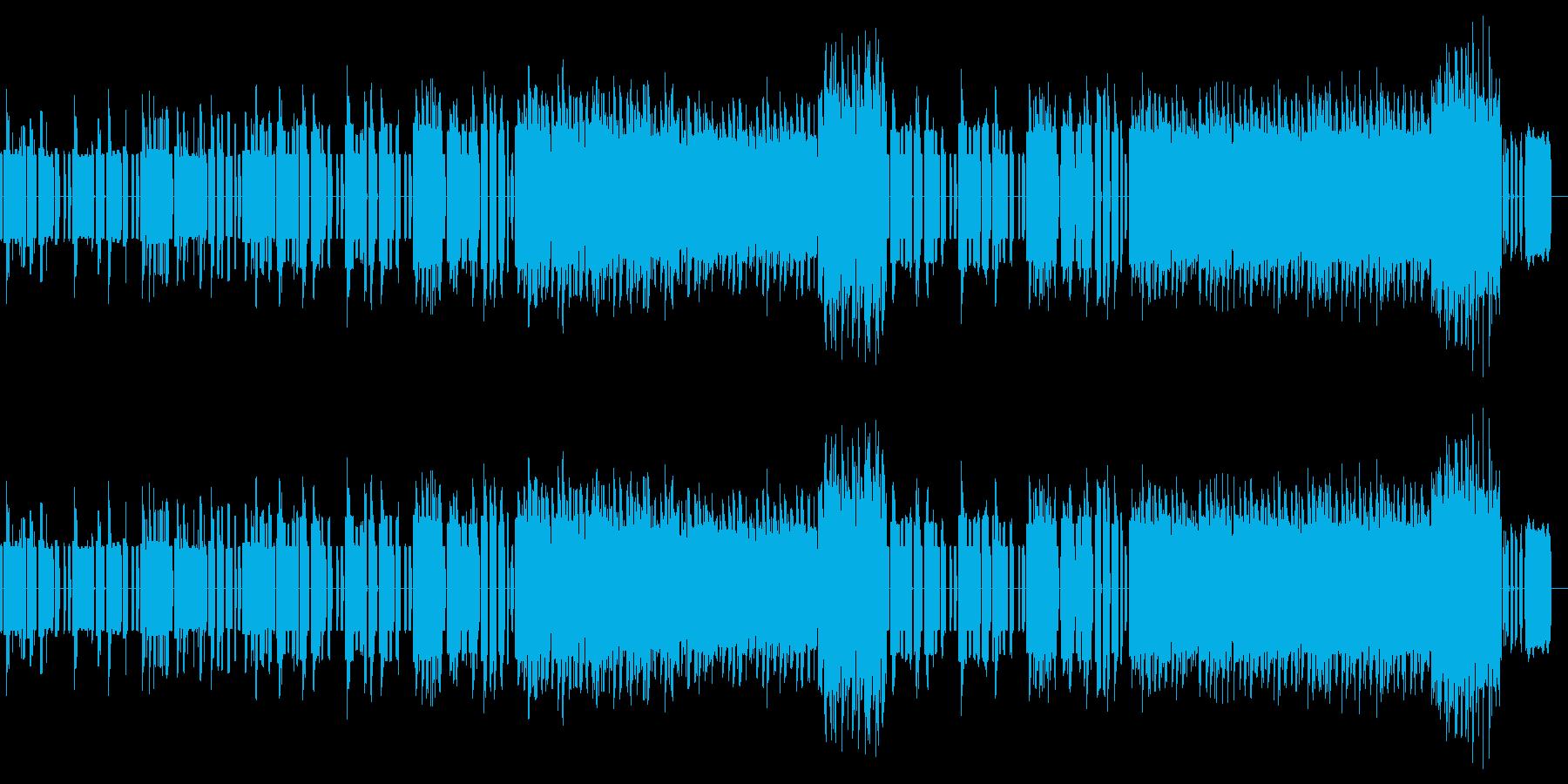 マリオ風たのしい/明るい冒険ゲーム曲!の再生済みの波形