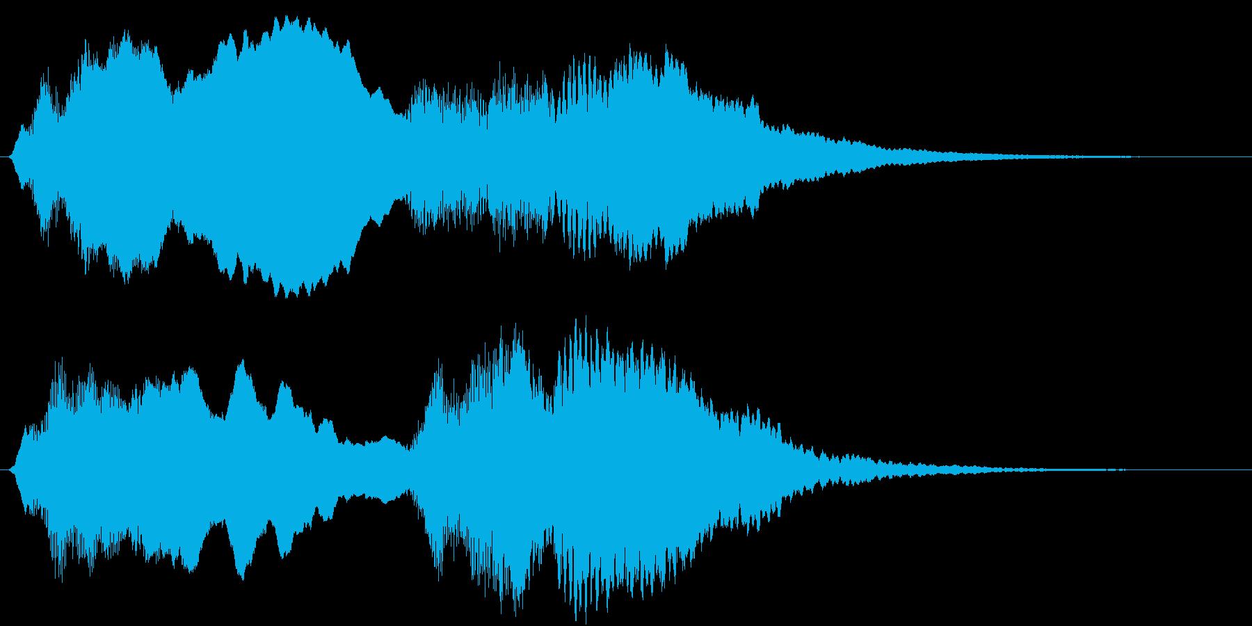 「トッカータとフーガ 」冒頭部ショートの再生済みの波形